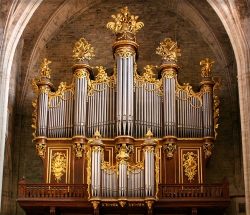 Organ in Montpelier Cathedral, France