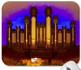 Organ pipes of the Mormon Tabernacle, Salt Lake City.