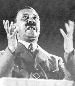 """Hitler making his """"last territorial demand."""""""