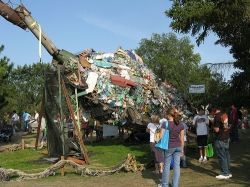 Junk Art from river pollution