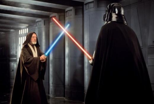 Obi-Wan v Darth Vader in Episode IV