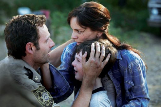 Rick, Lori and Carl find each other in the apocalypse.