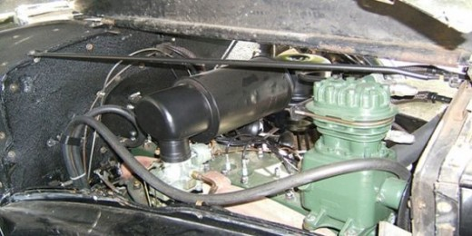 Packard Air Conditioning System Under The Hood