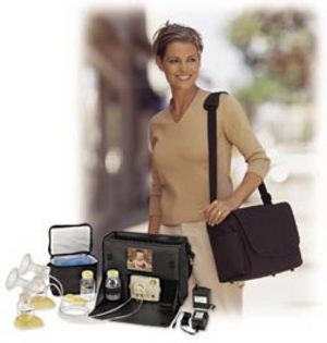 The Medela Pump in Style is convenient and discreet!