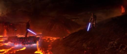 Obi-Wan gaining the high ground
