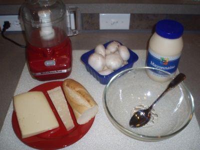 Vegetarian Stuffed Mushrooms Ingredients