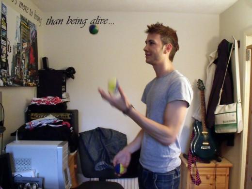 Me, Juggling. Who'da thunk?