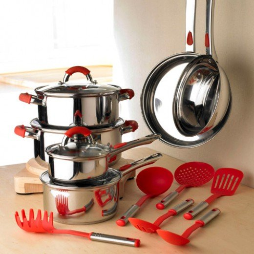 Stainless-Steel-Red-Silicone-Cookware-Range