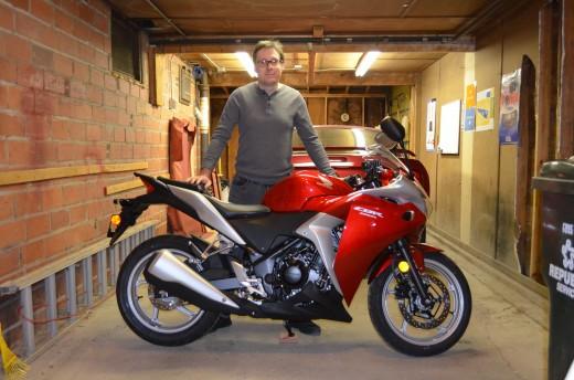 Selfie of me standing by my new 2012 Honda CBR250R!