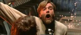 Anakin choking Obi-Wan