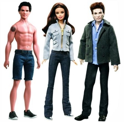 Bella, Edward, and Jacob Barbie Dolls