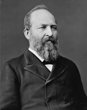 #20 James A. Garfield: None.