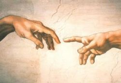 "Michelangelo's ""Creation of Adam"" Poster"