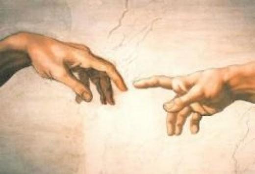 """Michelangelo's """"Creation of Adam"""" Poster"""