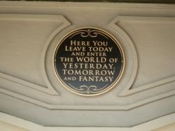 Magic Kingdom Entrance Plaque