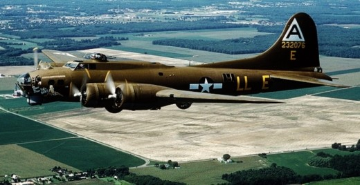 B-17 in flight.