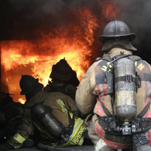 Firemen are true heroes