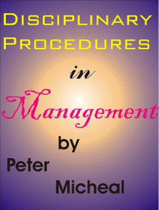 Disciplinary procedures in management, article related to management as an academic course.  The picture is just an illustration.