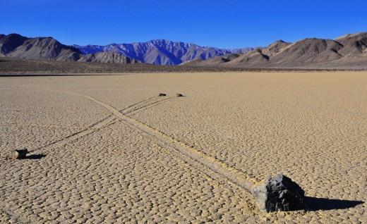 Racing rocks crossing paths