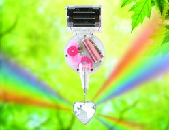 Kikkerland Solar Powered Heart Rainbow Maker