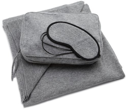 Sofia Cashmere Women's Cozy Cashmere Travel Set (Gray)