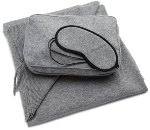 Sofia Cashmere Women's Cozy Cashmere Travel Set (Gray)