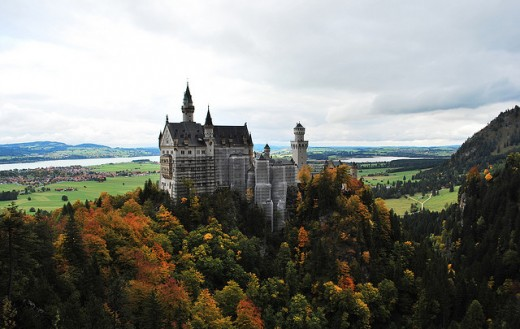 The Neuschwanstein Castle in Germany was the setting for many medieval movies, and when you look at the photo, you can easily see why