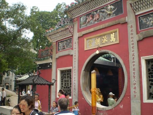 Macau's oldest. The A-Ma Temple.