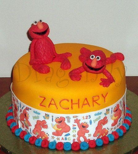 Cool Elmo cake by Signature SugarArt - http://signaturesugarart.com