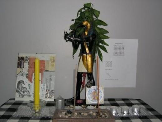 Mercury Talisman Altar with Sesheta and Djehuti