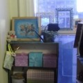 Adding a Bit of Shabby Chic to the Bitty Craft Space