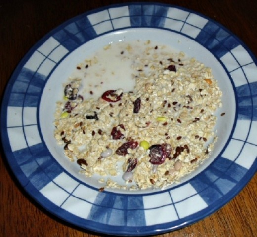Kid-Friendly Muesli with Dried Cranberries and Candy Coated Sunflower Seeds