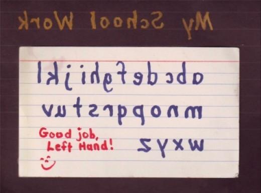 Right Writes Right, Left Writes Left