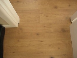 Hardwood Laminate Flooring through a doorway