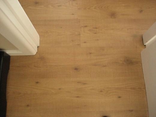 Hardwood Laminate Flooring through a doorway