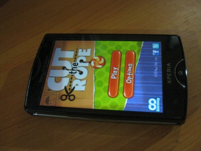 Cut the Rope on my Xperia Mini