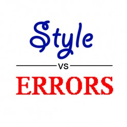 Style vs Errors in Writing