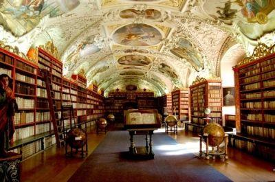 Strahov Theological Hall - Original Baroque Cabinets