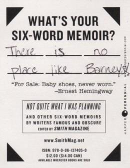 Celebrity six word memoirs funny