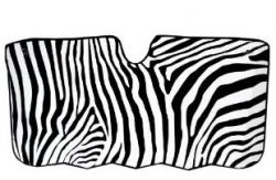 zebra car shade