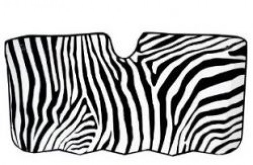 zebra car shade