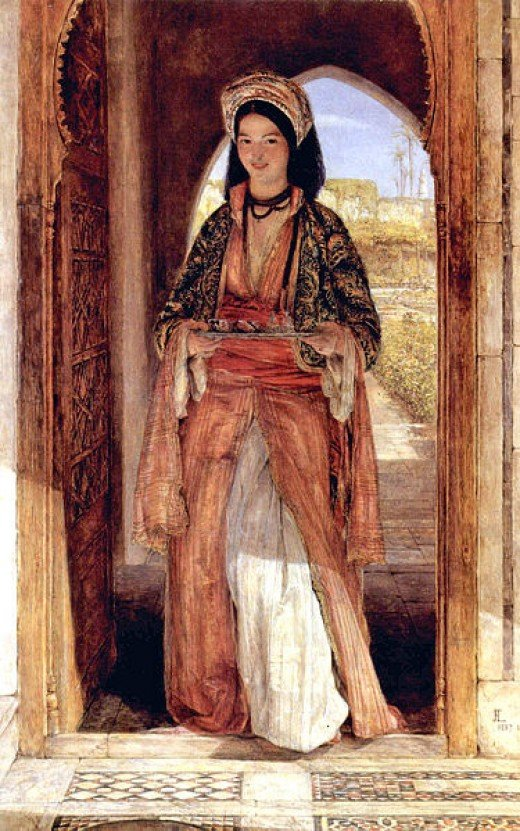 Image source WikiMedia Commons. Original painting by John Frederick Lewis.