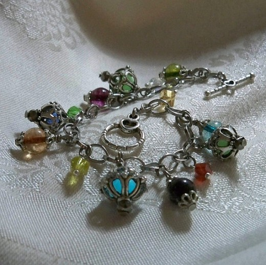 One of our Kaged Kryptonite charm bracelet designs... Kages and Colors!