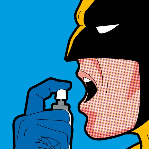Wolverine freshens up his breath.