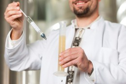 Brewer Testing Beer Quality