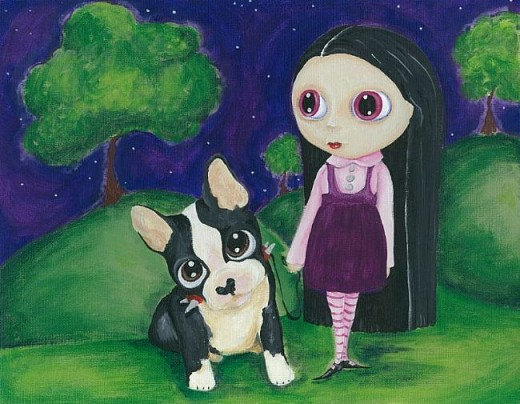"""""""A Pity Puppy and Big Eyed Goth Girl"""" by Noelle Hunt"""