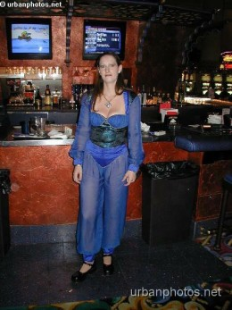 Aladdin Las Vegas cocktail waitress, June 2001