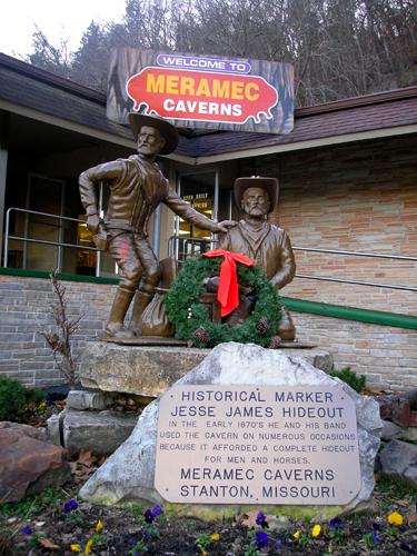 Statue commemorating Jessie James
