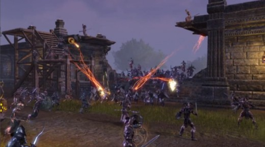 the elder scrolls online Huge PVP Battles