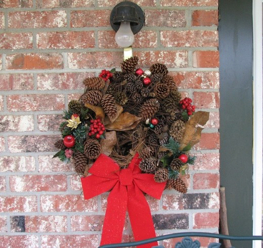 This wreath is truly for the birds.